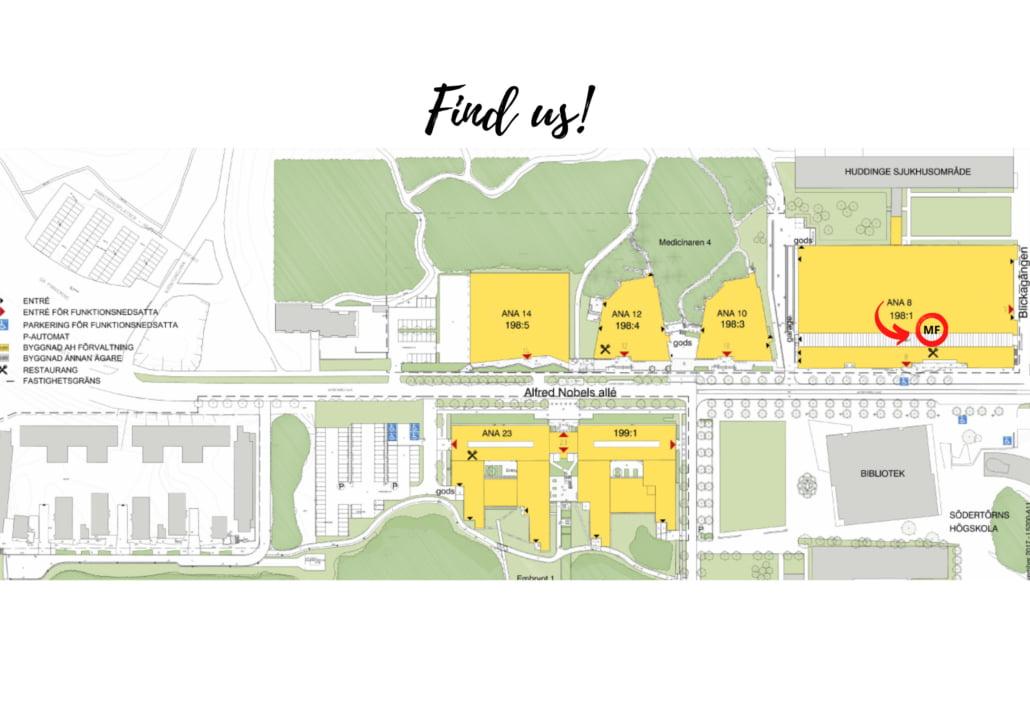 Karta Campus Flemingsberg eng