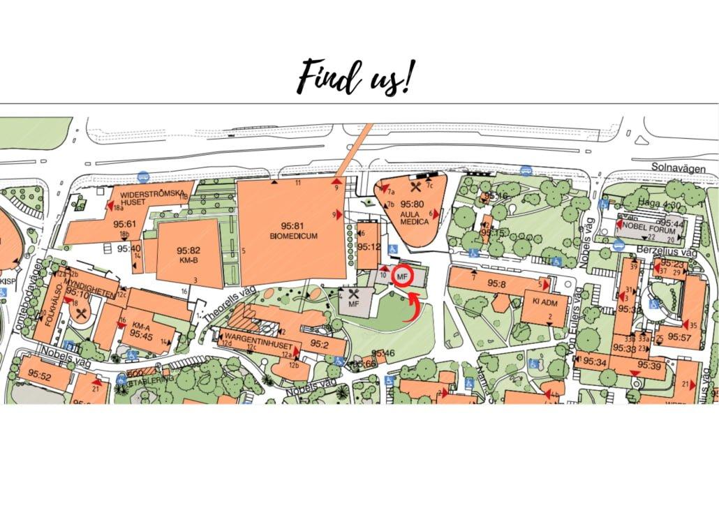 Karta Campus Solna eng